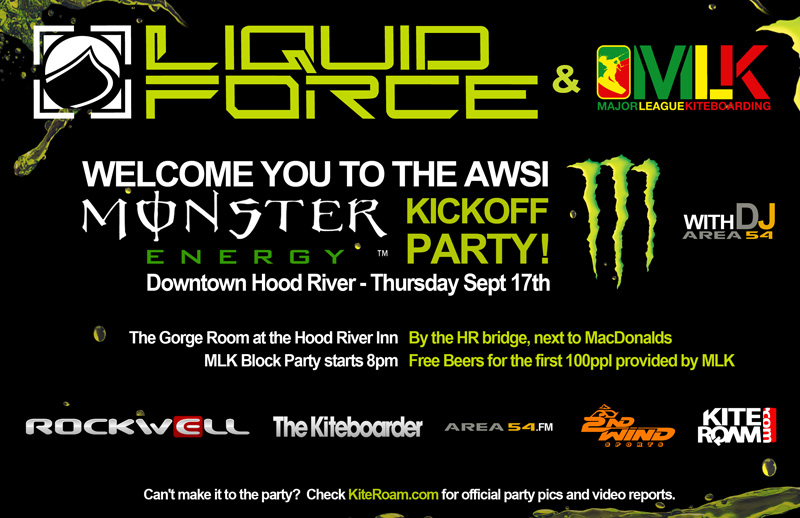 Liquid Force and Major League Kiteboarding @ Hood River September 17.